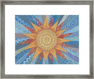 A Quilt Of Sunshine Framed Print