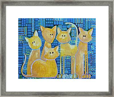 A Quorum Of Cats Framed Print