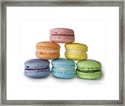 A Rainbow Of Macarons Framed Print