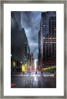 A Rainy Day In New York City Framed Print