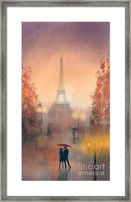 A Rainy Evening In Paris Framed Print