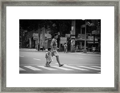 A Rare Break In Philippine Traffic Framed Print by Jez C Self