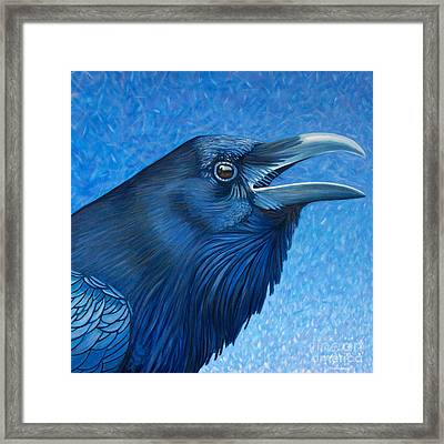 A Raven's Prayer Framed Print