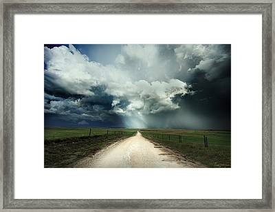 God's Light Framed Print by Brian Gustafson