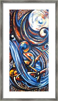 Framed Print featuring the painting A Ray Of Hope 4 by Harsh Malik