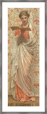A Reader Framed Print by Albert Joseph Moore