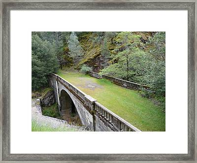 A Real Bridge To Nowhere Framed Print by Joel Deutsch
