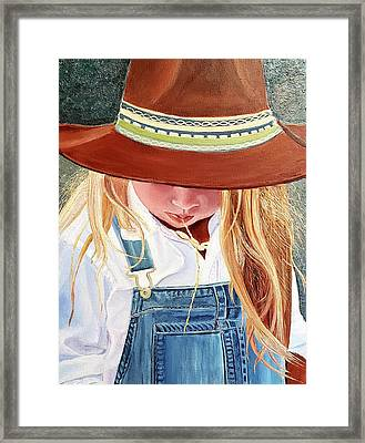 A Real Cowgirl Framed Print