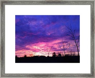 A Real Sunset Framed Print by Randi Shenkman