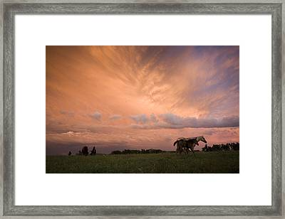 A Receding Thunderstorm Creates Framed Print by Jim Richardson