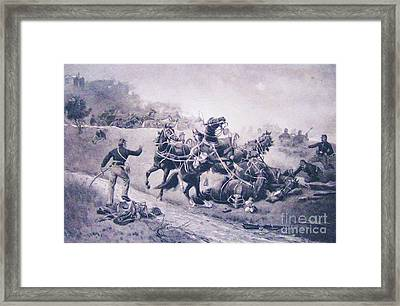 A Recollection Of Gettysburg Framed Print by Roberto Prusso