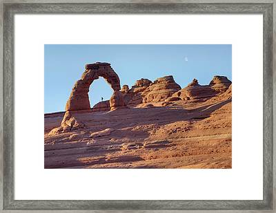 A Red Rock Wonderland. Framed Print