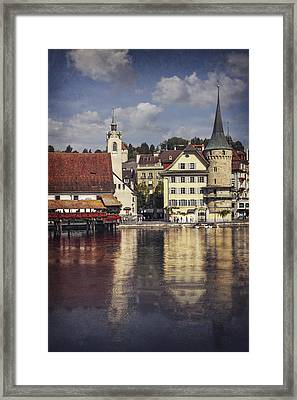 A Reflection Of Lucerne Framed Print by Carol Japp