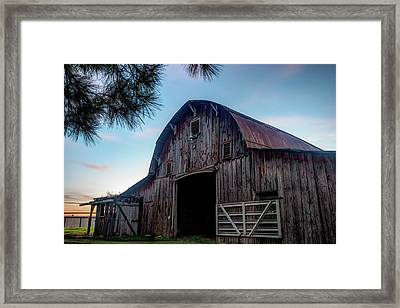 A Relic Of The Past - Old Barn Photography Framed Print by Gregory Ballos