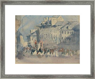 A Religious Procession Framed Print