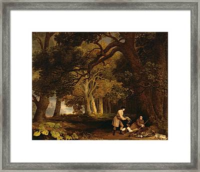 A Repose After Shooting Framed Print by George Stubbs