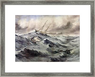 A Rescue At Sea, C1862 Framed Print by Granger