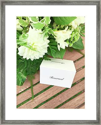 A Reserved Sign Framed Print by Tom Gowanlock