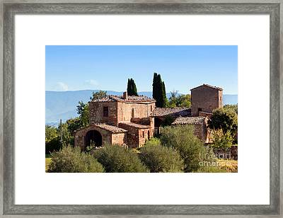 A Residence In Tuscany, Italy. Tuscan Farm Framed Print