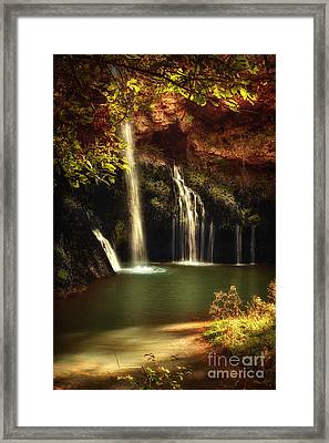 A Resting Place At Dripping Springs II Framed Print by Tamyra Ayles