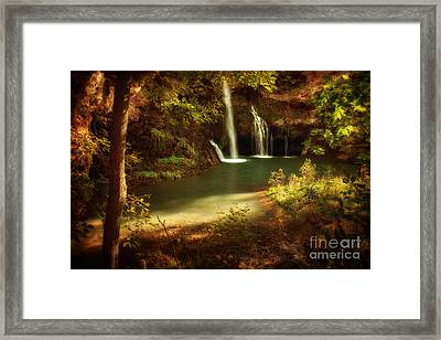 A Resting Place At Dripping Springs Framed Print by Tamyra Ayles