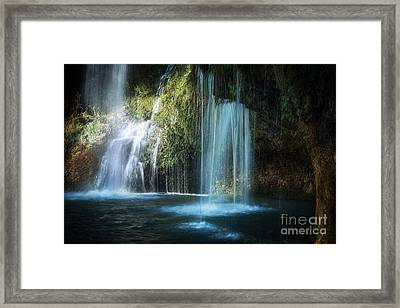 A Resting Place At Natural Falls Framed Print by Tamyra Ayles