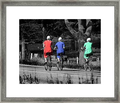 A Ride In Amish Country Framed Print by Mark Preston