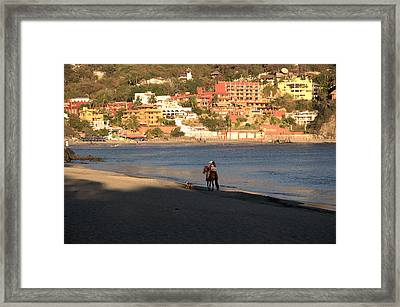A Ride On The Beach Framed Print by Jim Walls PhotoArtist