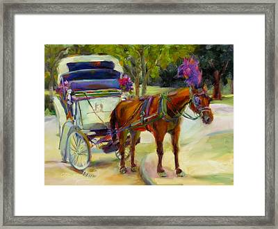 Framed Print featuring the painting A Ride Through Central Park by Chris Brandley