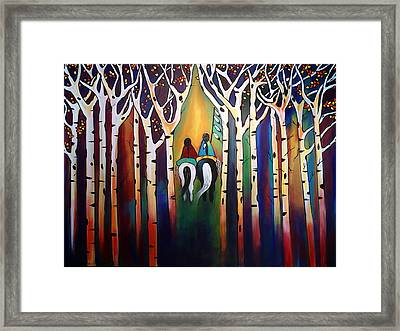 A Ride Through The Aspens Framed Print