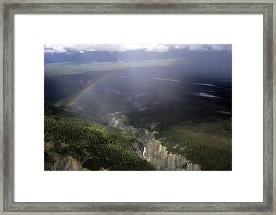 A River Cuts Through A Gorge In Alaska Framed Print by Stacy Gold
