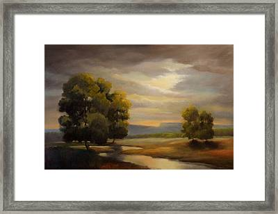 A River Flows Through It Framed Print by Kevin Palfreyman