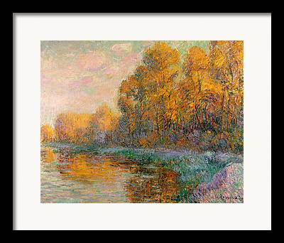 Reflections In River Paintings Framed Prints