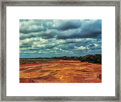 Framed Print featuring the photograph A River Of Red Sand by Diana Mary Sharpton
