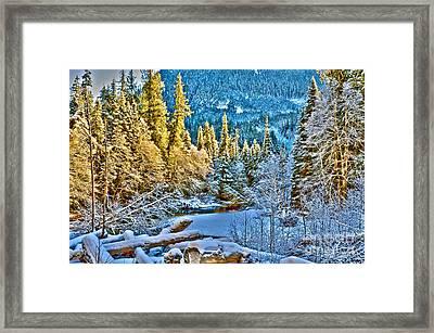 A River Runs Down It Framed Print