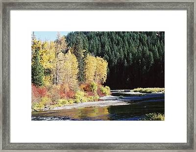 A River Runs Past It Framed Print