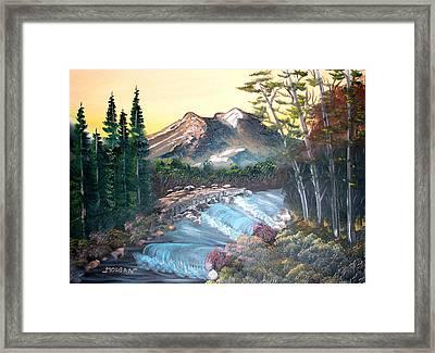 A River Runs Through It Framed Print by Sheldon Morgan