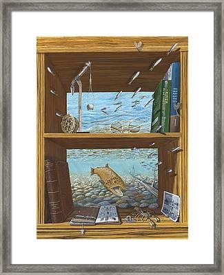 A River Runs Through It Framed Print by Susan Schneider