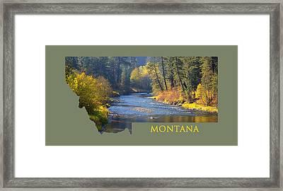 A River Runs Thru Autumn Framed Print