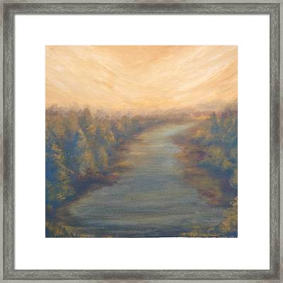A River's Edge Framed Print by T Fry-Green