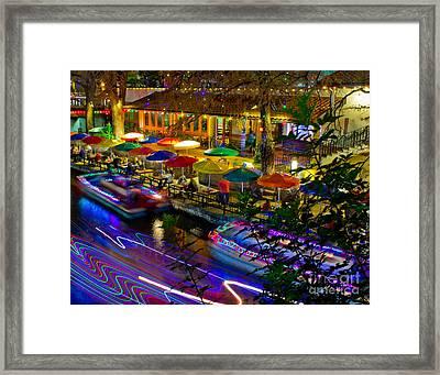 A San Antonio River Walk Christmas Framed Print