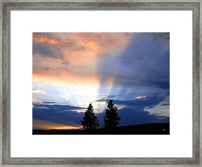 A Riveting Sky Framed Print