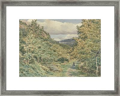 A Road Near Bettws Y Coed Framed Print by George Price Boyce