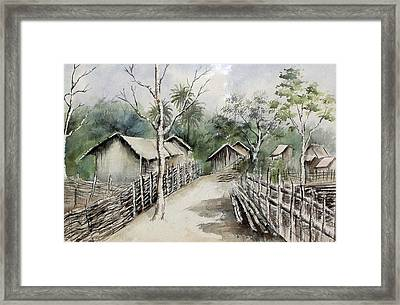 A Road To Simplicity  Framed Print