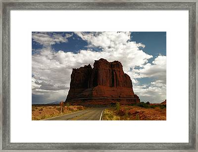 A Road To The Rock Framed Print