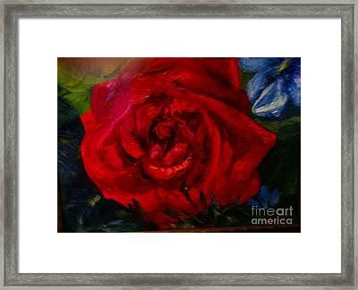 A  Rose Is Framed Print