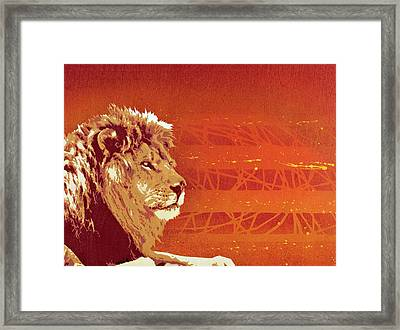 A Roaring Lion Kills No Game Framed Print by Tai Taeoalii