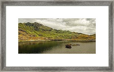 A Rock And A Hard Place Framed Print