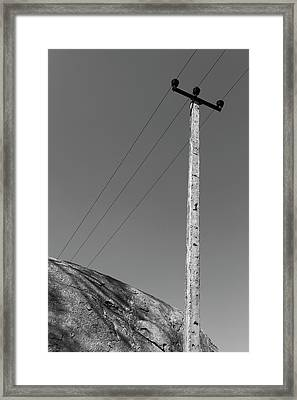A Rock And A Pole, Hampi, 2017 Framed Print by Hitendra SINKAR