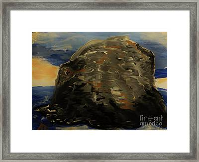 A Rock Framed Print by Marie Bulger